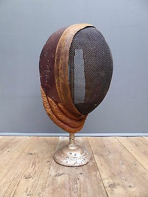 Beautiful Rare Antique Vintage English Leather Fencing Mask By Wilkinson Sword