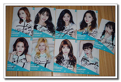 Signed Twice ALL9Member in-album Page Two Photo Hand Autograph Authentic