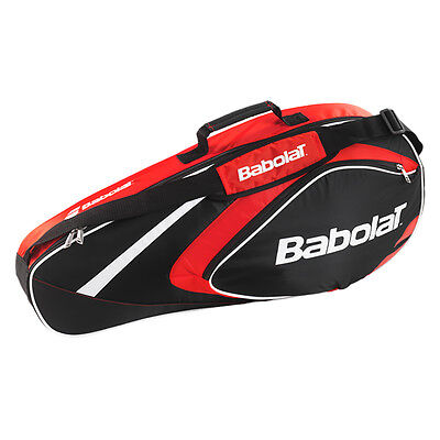 New Collection Babolat Club Line 3 Racket Bag (Black-Red)