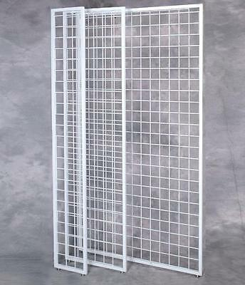 """Case of 4 New 1"""" Framed White finish Gridwall Panel 84"""" X 48"""""""