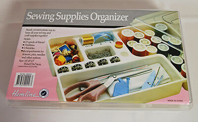 Large Plastic Sewing Craft Organiser Box with 4 compartments
