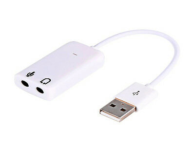 UK USB 2.0 to Headphone/MIC 3D Virtual 7.1 Channel Audio Sound Card Adapter