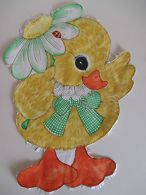 Baby Duck Stuffed Doll / Cushion Cut & Sew Fabric Panel by Springs Mills # 7572
