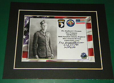 Bradord Freeman Easy Company Band of Brothers 506 P.I.R. 101st Airborne Army