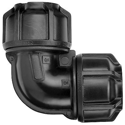 Philmac METRIC POLY PIPE ELBOW, BLACK *Australian Made- 16mm, 20mm, 25mm Or 32mm