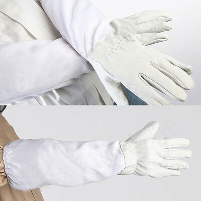 Protective Beekeeping Gloves Leather Vented Bee Keeping Gloves Protection Tools