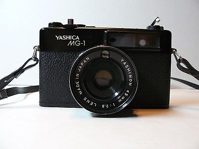 Yashica MG-1 Vintage 45mm Film Camera with Case