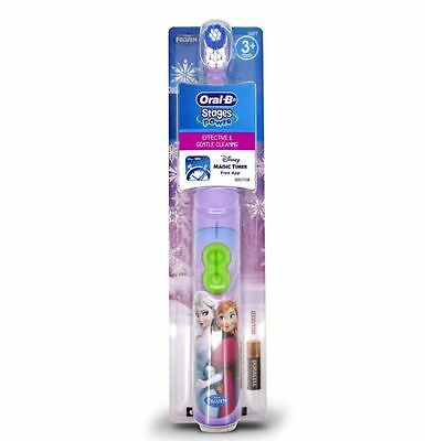 Oral-B Stages Power Kid Disney Frozen Battery Toothbrush With Timer App Princess