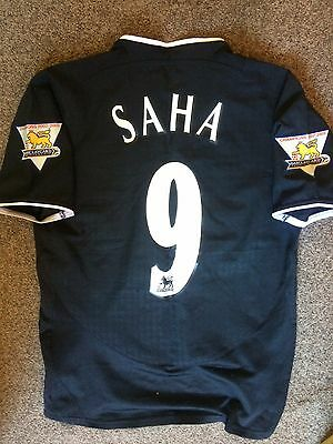 MANCHESTER UNITED Soccer Jersey 2003  Saha Patches EPL