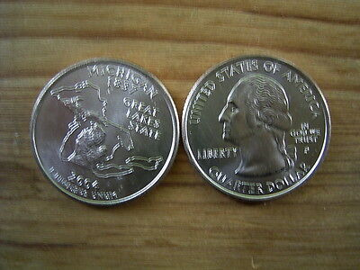 "2004p  usa state  quarter ""michigan"" dollar coin collectable"