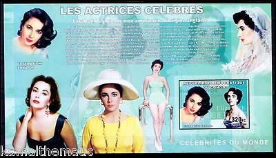 British-American  Actress, Imperf Elizabeth Taylor, Congo MNH 4v SS - Mu29