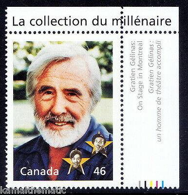Canada MNH,Millennium, GRATIEN GELINAS, Founders of modern Canadian theatre and