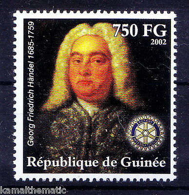 Guinee MNH, Handel, German-British Baroque composer, Music, Rotary Club