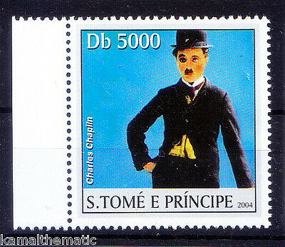 S. Tome MNH, Charlie Chaplin, Film Star, Comedians -M38
