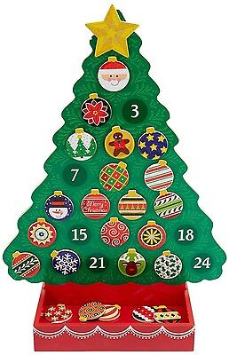 Brand New Melissa & Doug Countdown To Christmas Wooden Advent Calendar