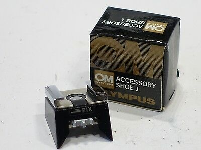 Olympus Accessory Hot Shoe 1, Boxed, Exc+, No Cracks for M-1 OM 1 OM 2 M1 camera