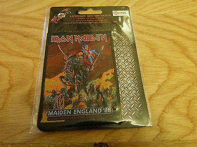 Iron Maiden - Maiden England '88 (New) Sew On W-Patch Official Band Merchandise