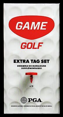 Pga Game Golf Digital Tracking System + Extra Tag Set Nib