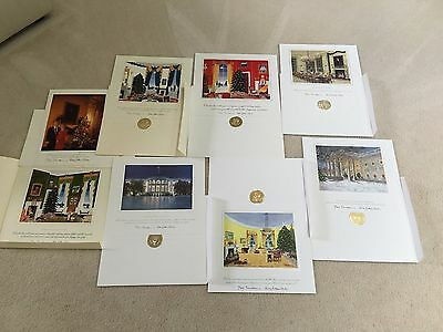 1993-2000 White House Christmas Large Cards - President Bill & Hillary Clinton