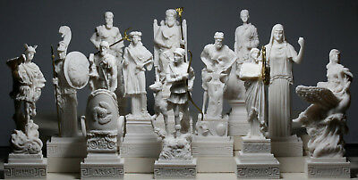 SET 12 Twelve Greek Olympian Gods Pantheon Figure Handmade Statue Sculpture