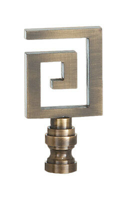 "GREEK KEY LAMP FINIAL ~ Antique Brass Finish  { 2 1/2"" Tall} ~ by PLD"