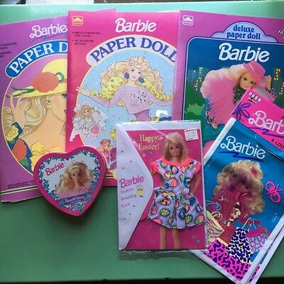 90s Barbie Lot, Paper Dolls, Candy Tin, Greeting Card, Loot Bags