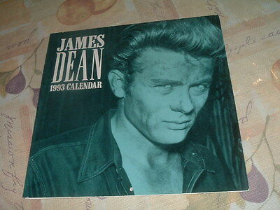 RARE James Dean 1993 12 Month Wall Calendar by Warner Bros.