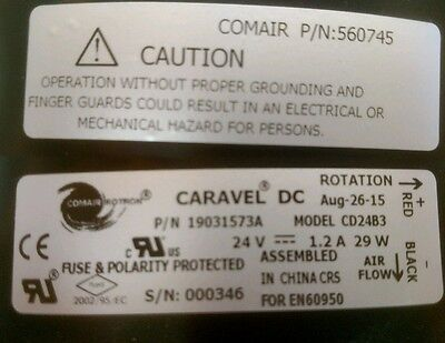 (NEW) Comair Rotron CD24B3 24VDC 1.2A 10 Inch DC Cooling Fan