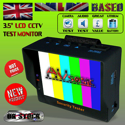 """3.5"""" TFT LCD PORTABLE WRIST MONITOR / CCTV - CVBS VIDEO and ANALOGUE AUDIO TEST"""