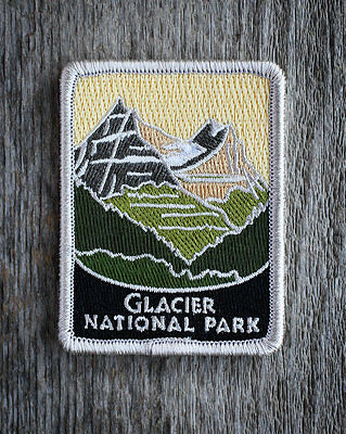 Glacier National Park Souvenir Patch Traveler Series Iron-on Montana