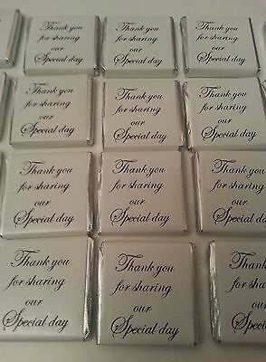 50 silver/white neopolitans  thank you for sharing/wedding favours /sweets