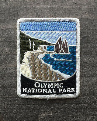 Olympic National Park Souvenir Patch Traveler Series Iron-on Washington
