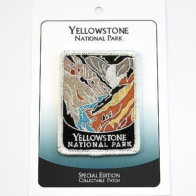 Yellowstone National Park Souvenir Patch Traveler Series Iron-on Wyoming