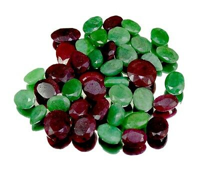 380ct / 41pcs Natural Emerald Sapphire Ruby Ring Size UK Gemstone Wholesale Lot