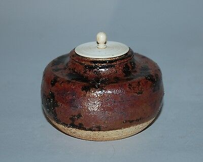 Chaire tea caddy, stoneware, Seto region, Japan