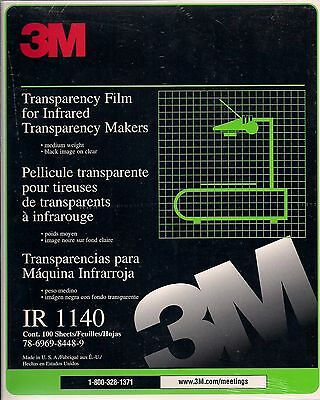 3M Transparency Film For Infrared Transparency Makers IR 1140 100 Sheets SEALED