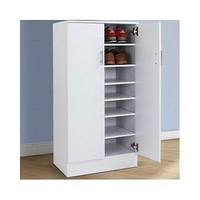 Shoe Storage Cabinet Rack Cupboard White Unit Stand Wooden Closet Furniture
