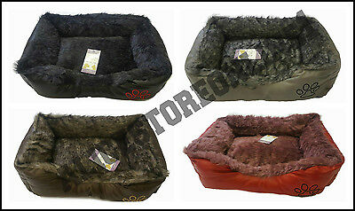 Soft Comfy Insulated Washable Very Warm Fleece Basket Pet Bed Cheap Cosy LARGE