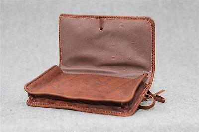Handmade Buffalo Leather Tobacco Pouch TP-L Wallet 50g string Billy Goat Designs