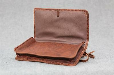 Leather tobacco pouch buffalo TP-L handmade 50gm smoking Billy Goat Designs