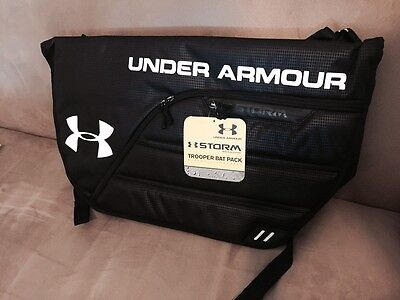 Black - Under Armour Trooper Messenger / Backpack / BatPack - Bat Pack - New