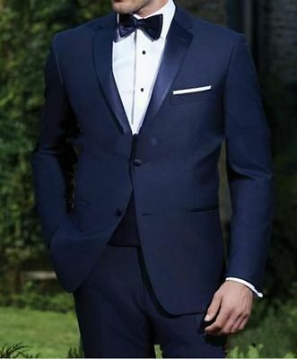 Custom Made Groom Tuxedos Best Man Groomsmen Wedding Men Suits Business Suit