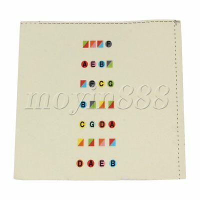 Beginners Learn Violin Tool Color Fretboard Note Stickers for 4/4 Violin
