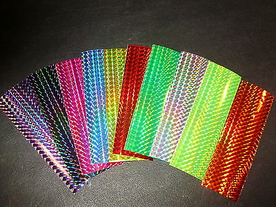 "2"" x 6"" 10 PACK Prism Color Shifting Fishing Lure Tape in 11 Colors"