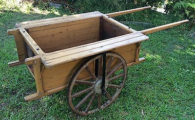 Vintage/Antique Wooden 2 Wheel Hand Cart/Wagon