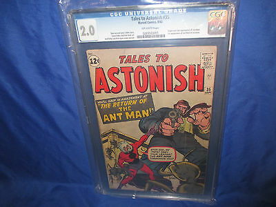 Tales to Astonish #35 CGC 2.0 OWP Origin & 1st Appearance Of Ant-Man in Costume
