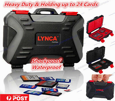 Shockproof Waterproof SD SDHC Micro SD CF Memory Card Case Holder Hard Storage