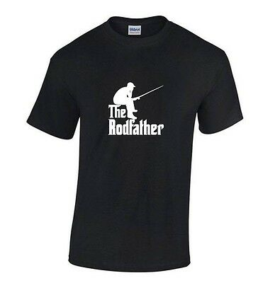 THE RODFATHER - FISHING - T-SHIRT Red, Black or White (S - 2XL)