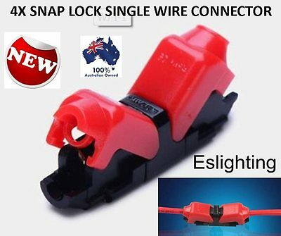 4X 12V Wire Cable Easy Snap Connector Terminals Joiners Soldering Free Car Auto