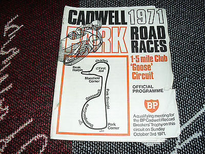 1971 Cadwell Park Motor Cycle Programme - 7/8/71 Road Races